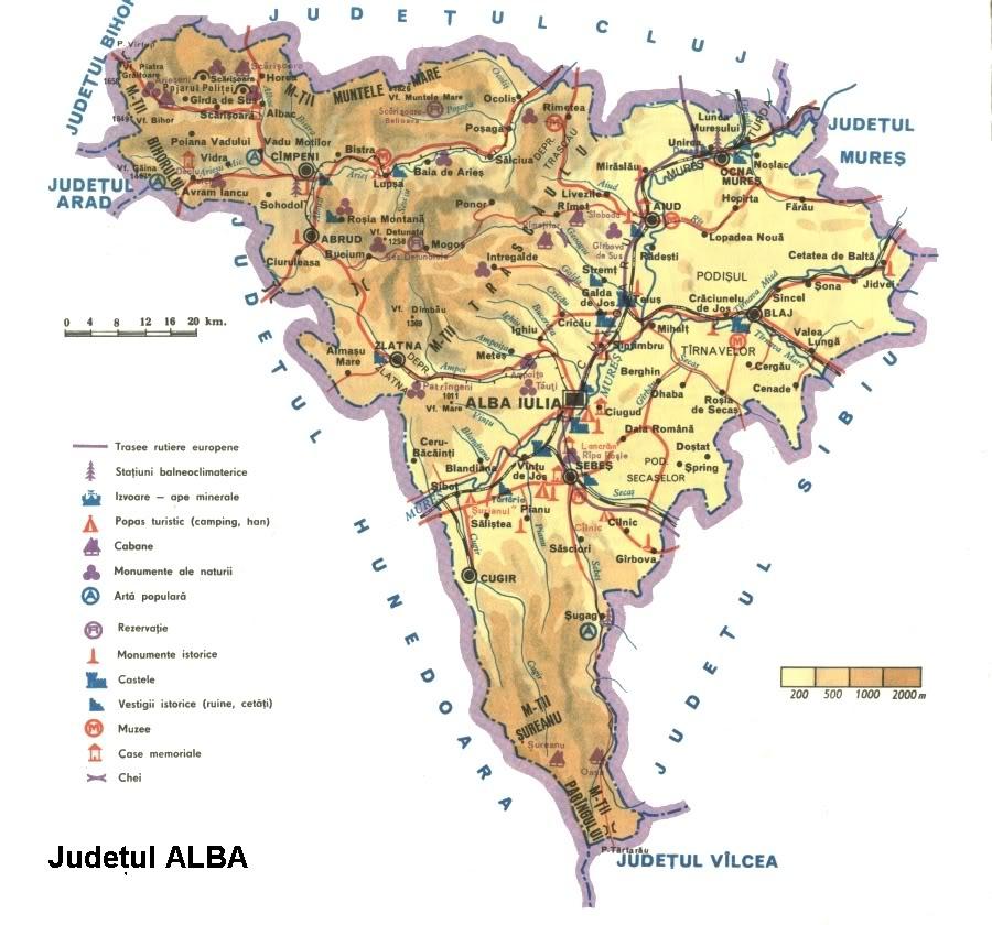 Judetul Alba Harta Romaniei