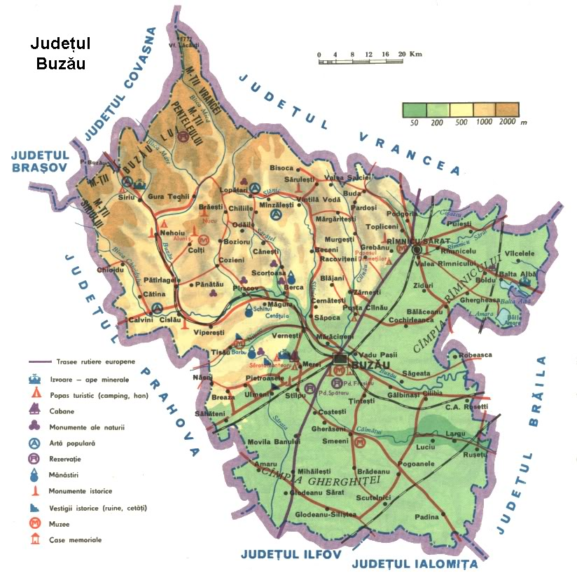 Judetul Buzau Harta Romaniei