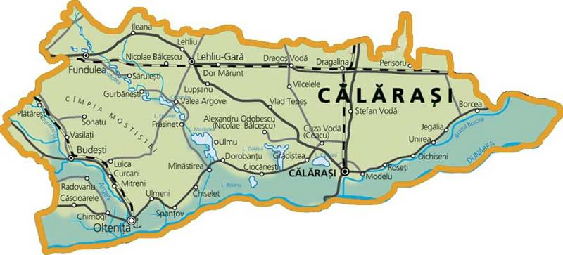 Judetul Calarasi Harta Romaniei