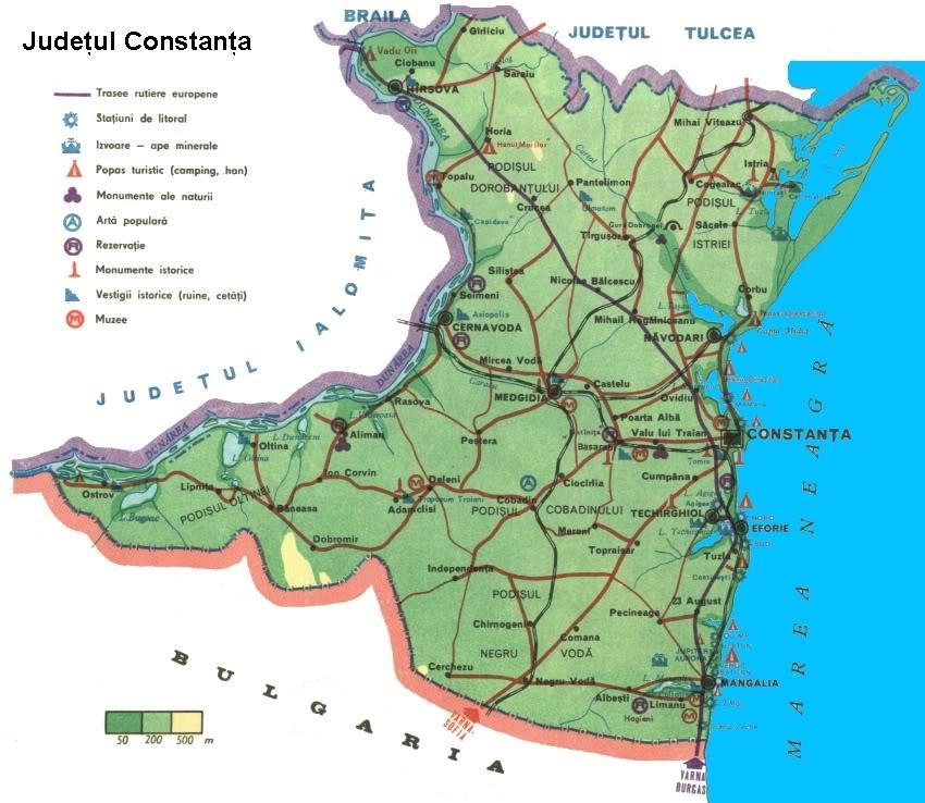 Harta Rutiera Judetului Constanta