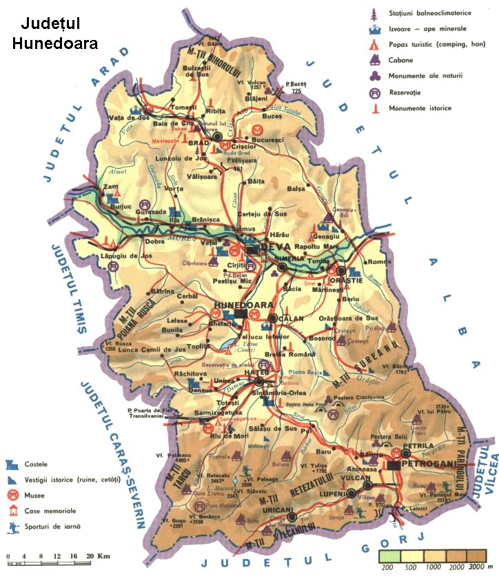 Judetul Hunedoara Harta Romaniei