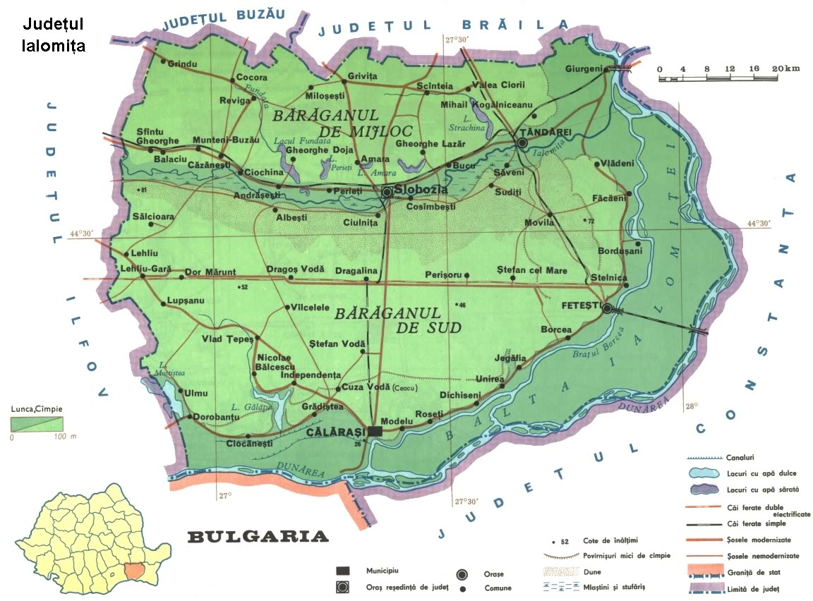 Judetul Ialomita Harta Romaniei