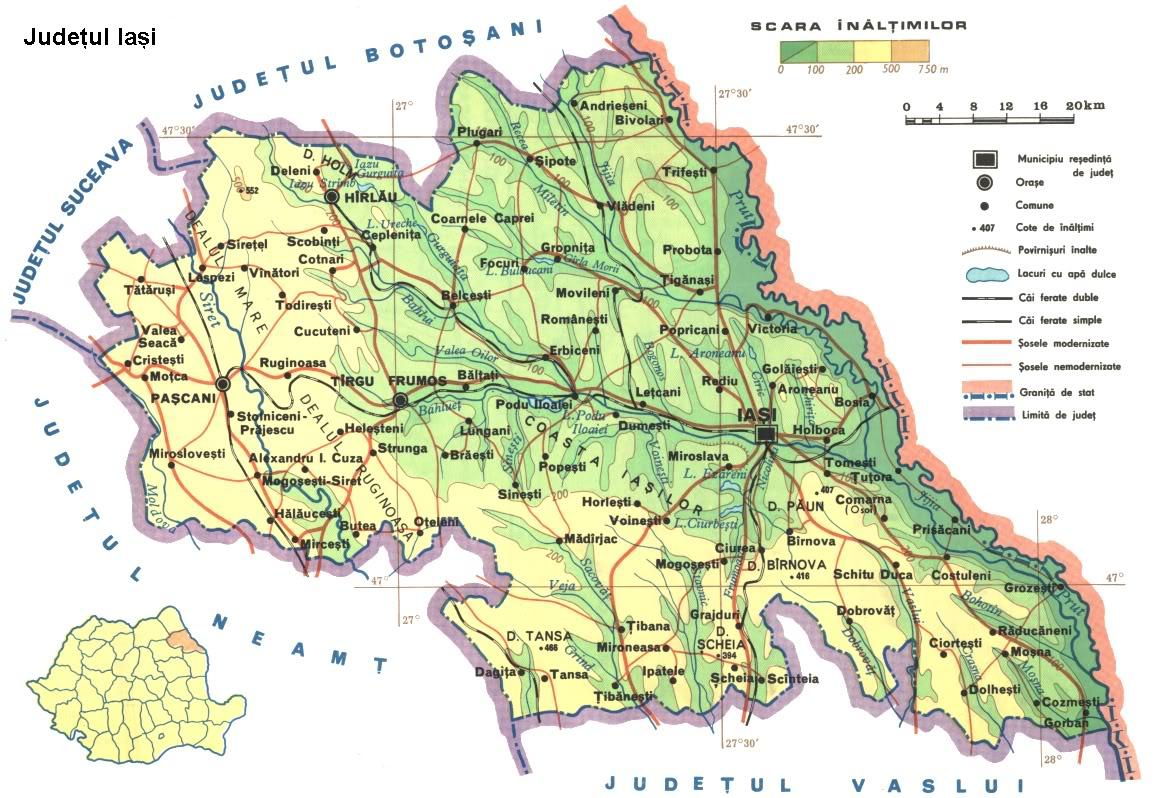 Judetul Iasi Harta Romaniei