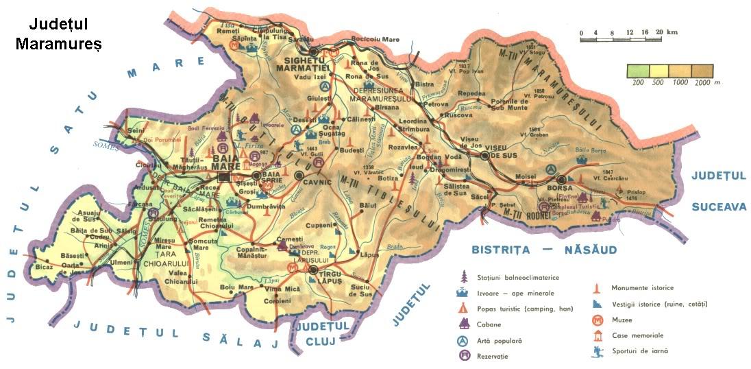 Judetul Maramures Harta Romaniei
