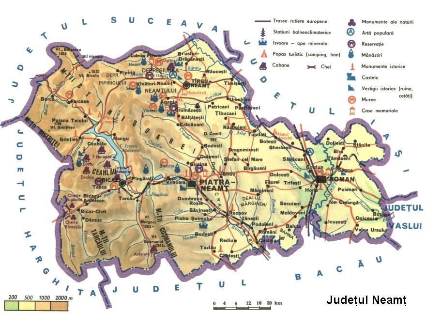 Judetul Neamt Harta Romaniei