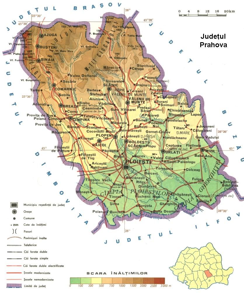 Judetul Prahova Harta Romaniei