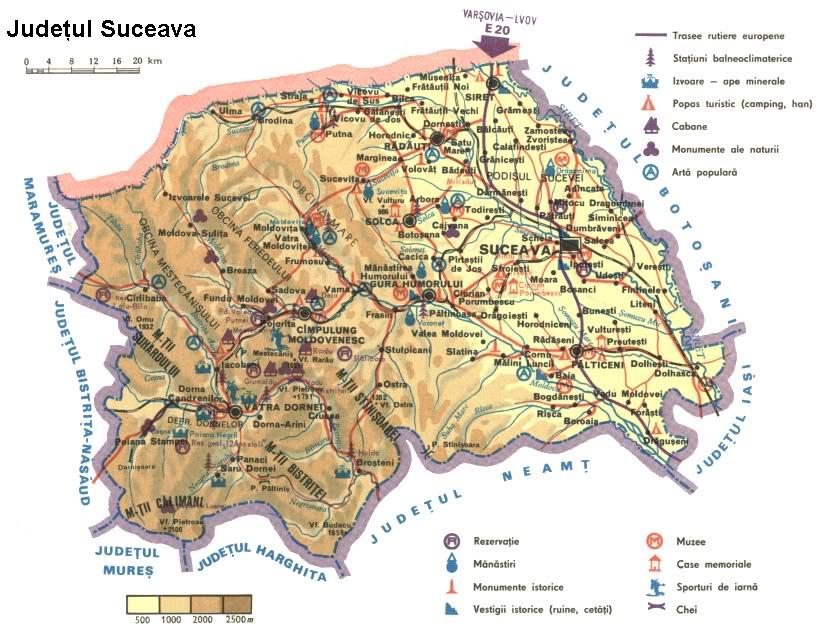 Judetul Suceava Harta Romaniei