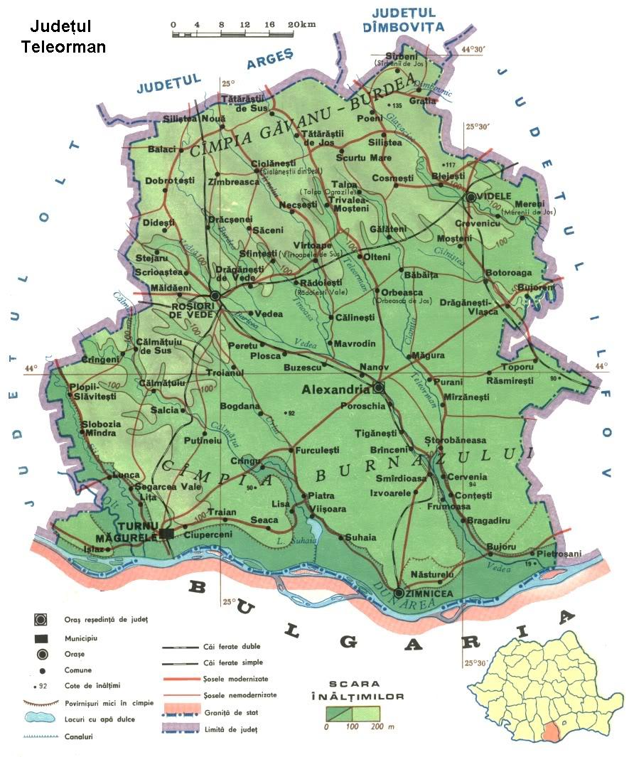 Judetul Teleorman Harta Romaniei