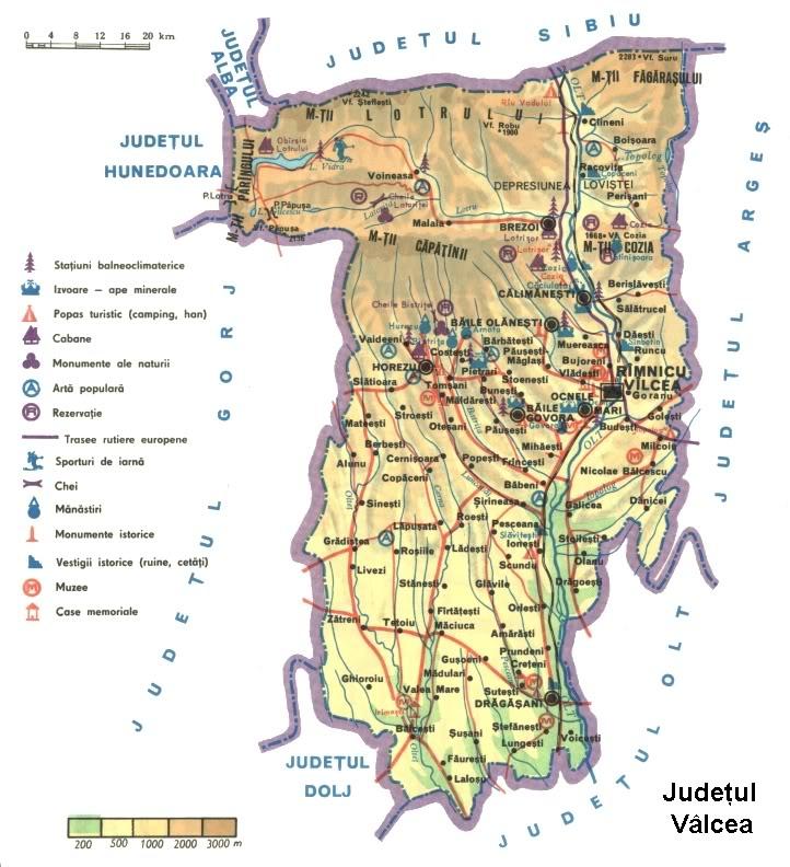 Judetul Valcea Harta Romaniei