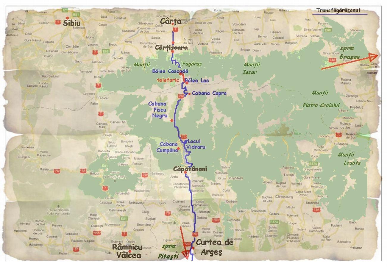 Harta Transfagarasan Balea Vidraru Obiective Turistice Harta